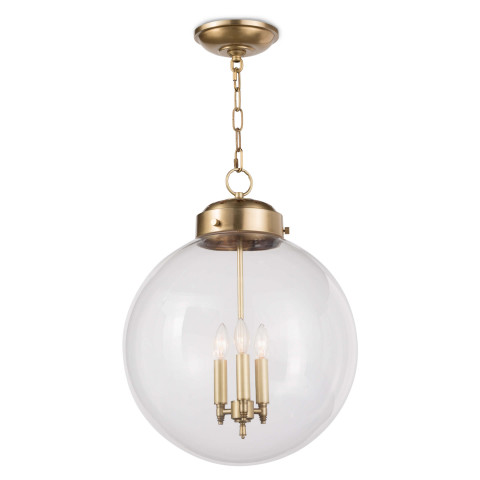 Globe Pendant, Natural Brass | Gracious Style