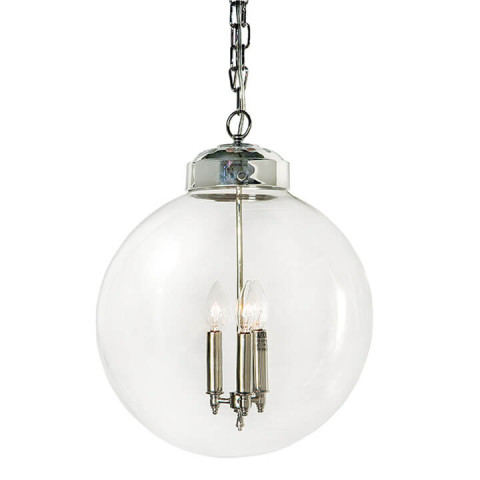 Globe Pendant, Polished Nickel | Gracious Style