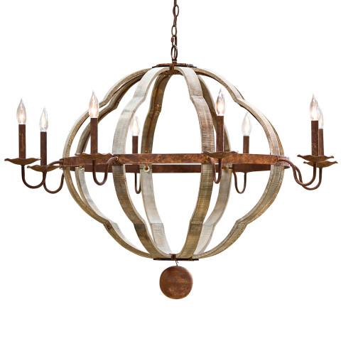 Wooden Quatrefoil Chandelier | Gracious Style