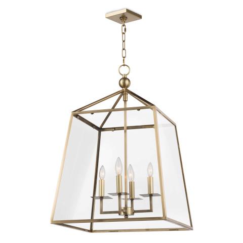 Cachet Pendant Lantern, Natural Brass | Gracious Style