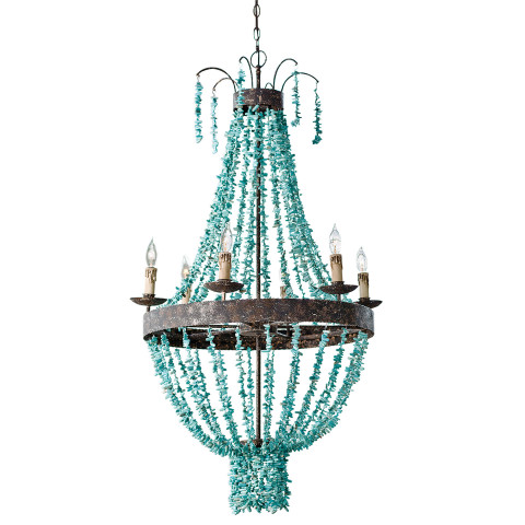 Beaded Turquoise Chandelier | Gracious Style