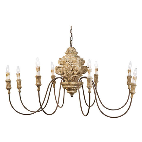 Wood Carved Chandelier | Gracious Style