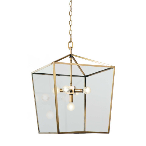 Camden Pendant Lantern, Natural Brass | Gracious Style