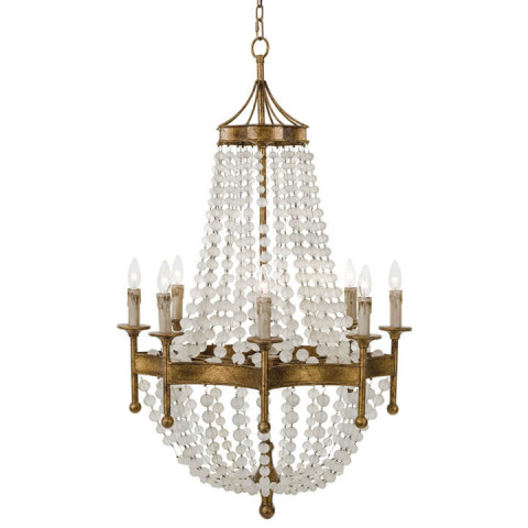 Frosted Crystal Bead Chandelier | Gracious Style