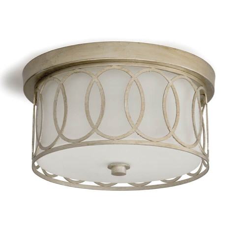 Fusion Flush Mount, Silver Leaf | Gracious Style