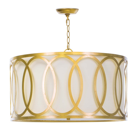 Fusion Chandelier, Gold Leaf | Gracious Style