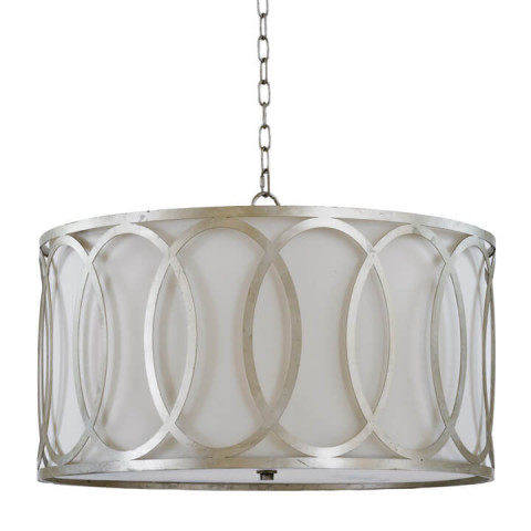 Fusion Chandelier, Silver Leaf | Gracious Style