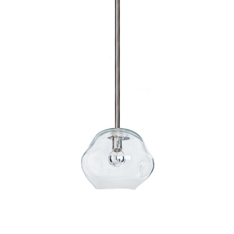 Molten Pendant Small With Clear Glass, Polished Nickel | Gracious Style