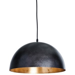 Sigmund Pendant Small, Black and Gold | Gracious Style