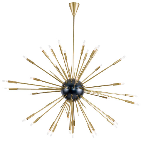 Nebula Chandelier Large, Black and Natural Brass | Gracious Style