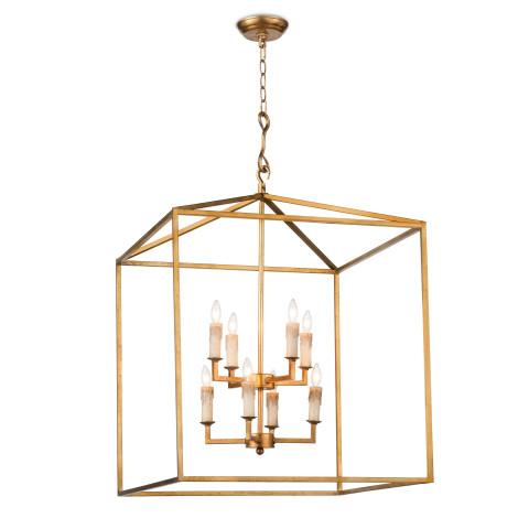 Cape Pendant Lantern, Antique Gold Leaf   Gracious Style