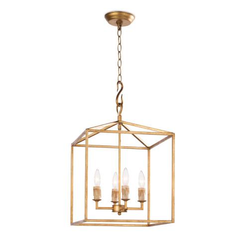 Cape Pendant Lantern Small, Antique Gold Leaf | Gracious Style