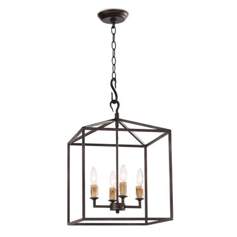 Cape Pendant Lantern Small, Black Iron | Gracious Style