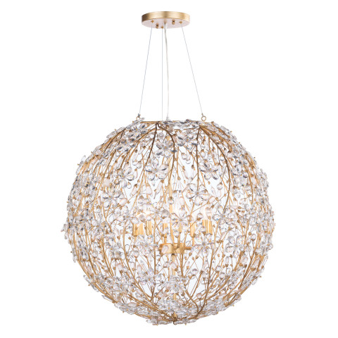 Cheshire Chandelier Large, Gold Leaf | Gracious Style