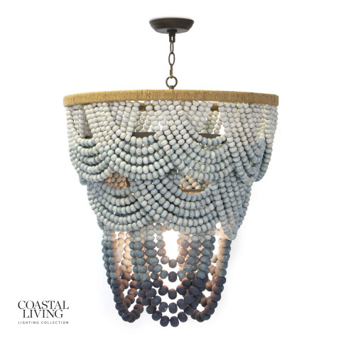 Ombre Wood Bead Chandelier | Gracious Style