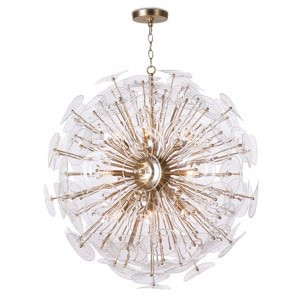Poppy Glass Chandelier, Clear | Gracious Style