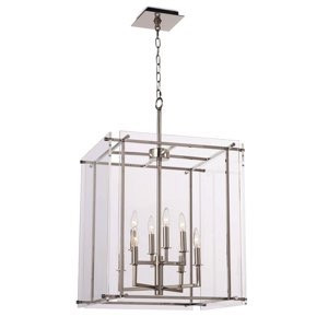 Jane Pendant Lantern Large, Polished Nickel | Gracious Style