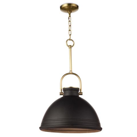 Eloise Ceramic Pendant, Black | Gracious Style