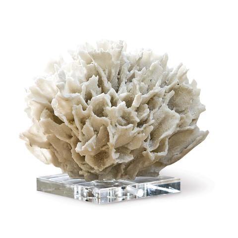 Ribbon Coral Object, White   Gracious Style