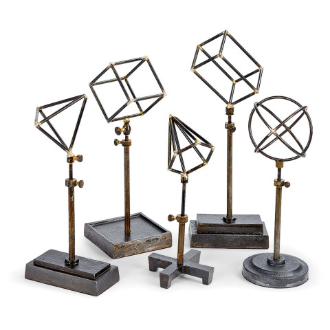 Geometrical Shapes Sculpture On Stand, Set of 5 | Gracious Style