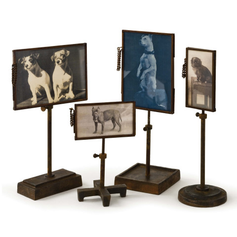 Vintage Metal Photo Holders, Set of 4 | Gracious Style