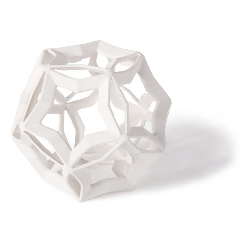 Geometric Star Sculpture Large, White | Gracious Style