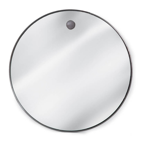 Hanging Circular Mirror, Steel | Gracious Style