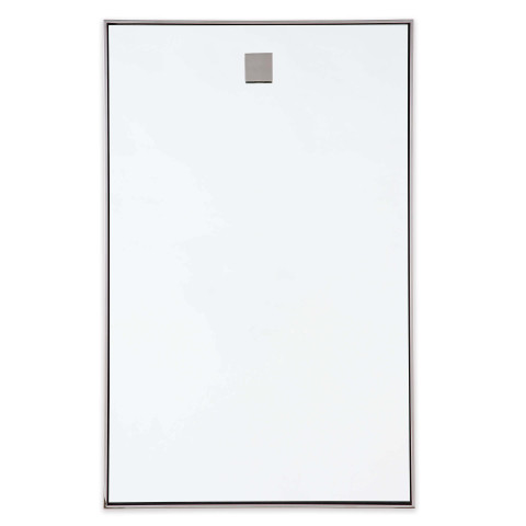 Hanging Rectangle Mirror, Polished Nickel | Gracious Style