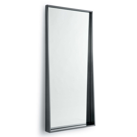 Gunner Rectangular Mirror Steel | Gracious Style