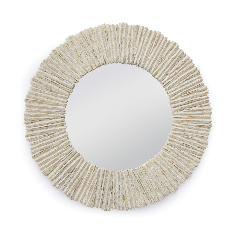 Slate Mirror Round, Natural | Gracious Style