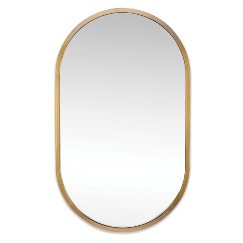 Canal Oval Mirror Natural Brass | Gracious Style