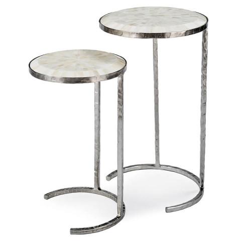 Bone Veneer Nesting Tables | Gracious Style