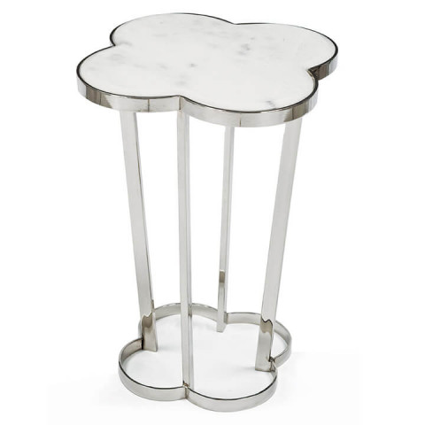 Clover Side Table, Polished Nickel | Gracious Style