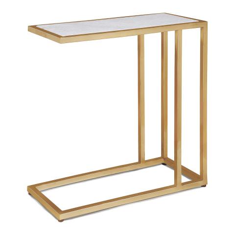 Echelon Sofa Hugger Table, Natural Brass | Gracious Style