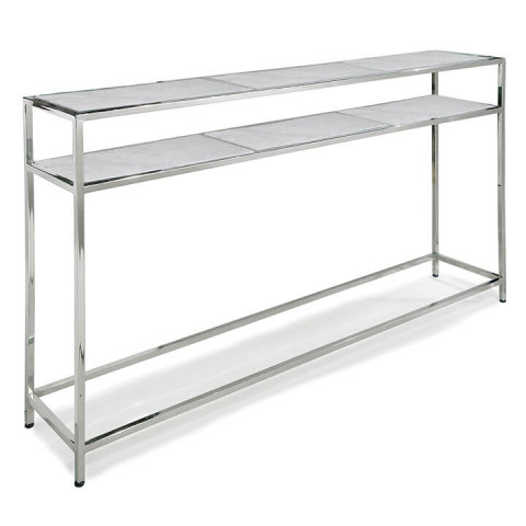 Echelon Console Table, Polished Nickel | Gracious Style