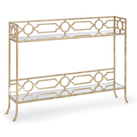 Geometric Shelf Console Table | Gracious Style
