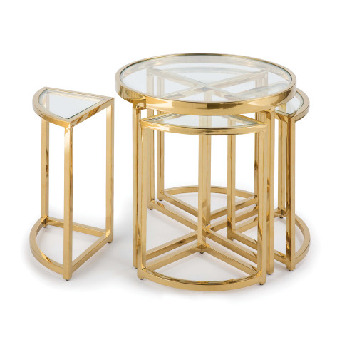 Majestic Side Table Set, Gold | Gracious Style