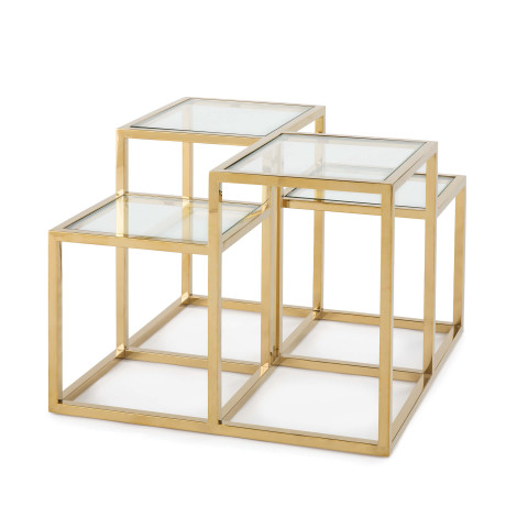 Astoria Side Table, Gold | Gracious Style