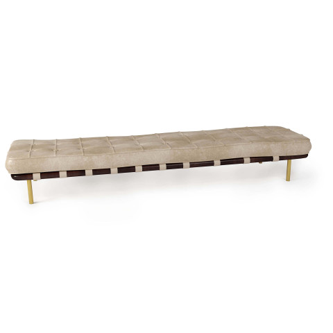 Tufted Gallery Bench, Cappuccino | Gracious Style