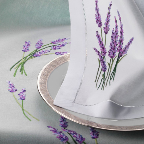 Provence White Embroidered Table Linens | Gracious Style