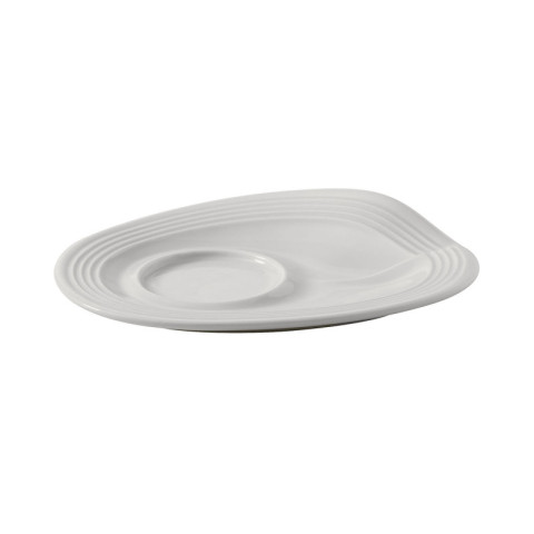 Froisse White Espresso Crumple Saucer 5 x 4 x 0.75 In | Gracious Style