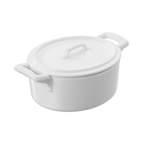 Belle Cuisine White Casserole Dish With Lid 5.25 x 4.75 x 3.25 In | Gracious Style