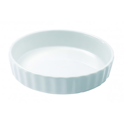 French Classics White Round Flan Dish 5 In | Gracious Style