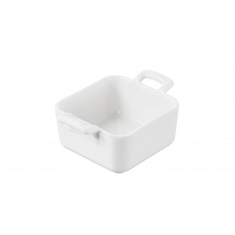 Belle Cuisine White Miniature Square Dish,Deep 2.75 x 2.75 x 1.5 In | Gracious Style