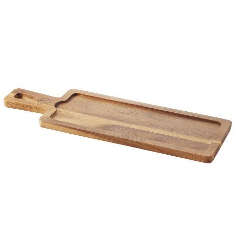 Inspired Rectangular Wooden Board Acacia 17 x 5.5 x 0.5 In | Gracious Style