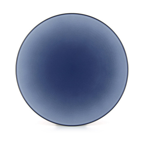 Equinoxe Cirrus Blue Coupe Dish, Large 13.25 In | Gracious Style