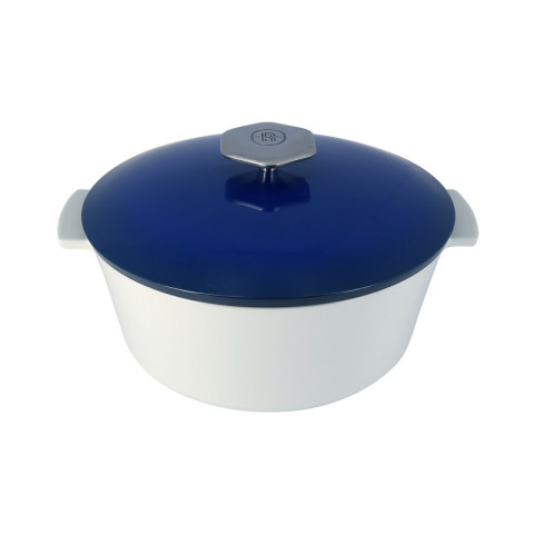 Revolution 2 Touareg Blue Round Casserole Dish Induction 10.25 In | Gracious Style