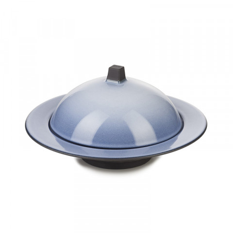 Equinoxe Cirrus Blue Dim Sum Cloche/Ass.Creuse 8.75 In | Gracious Style