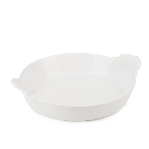 French Classics White Round Eared Dish 7 In | Gracious Style