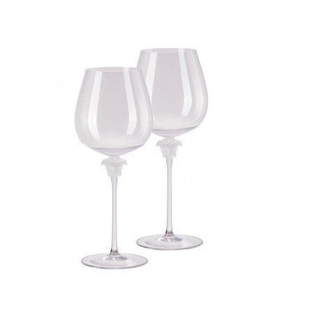 Medusa Lumiere - Clear Red Wine Burgundy Set Of Two 11 In 29 Oz | Gracious Style